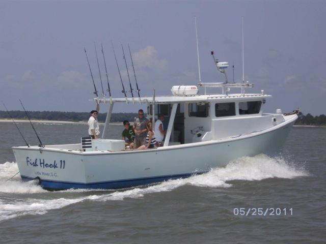 North myrtle beach charter fishing boat fish hook charters for Fishing charters myrtle beach
